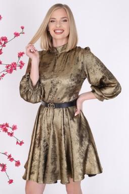 Parlak Altın Renk Elbise