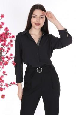 Siyah Renk Gömlek Pantolon İkili Takım