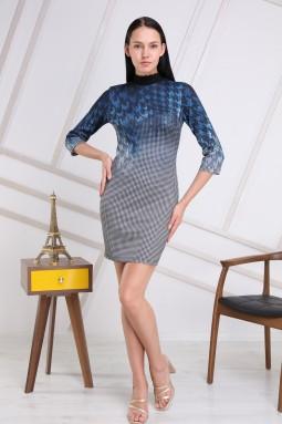 Mavi Kazayağı Elbise