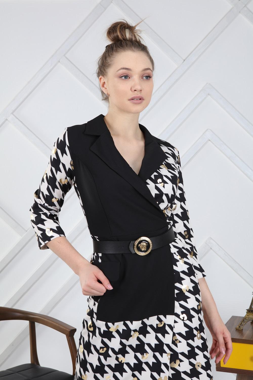Kazayaği Desenli Elbise